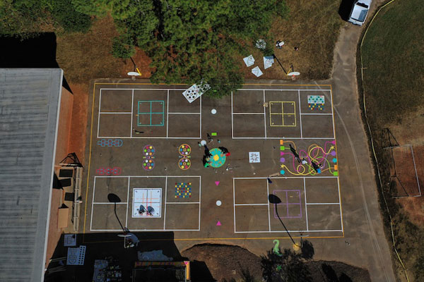 NC Elementary School Unveils New Outdoor-Learning and Play Space